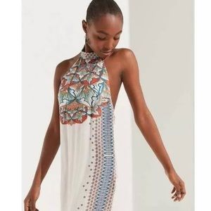 $69 UO Printed Boho Halter Dress Boho Size SP